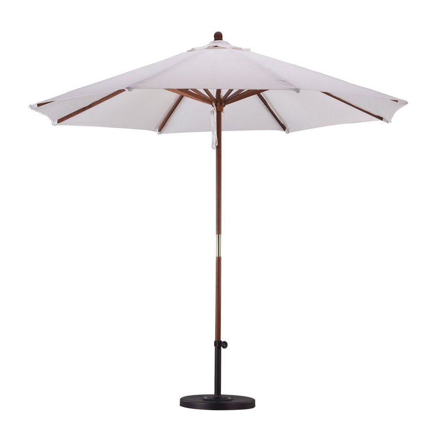 California Umbrella Natural Market Patio Umbrella (Common: 9-ft W x 9-ft L; Actual: 9-ft W x 9-ft L)