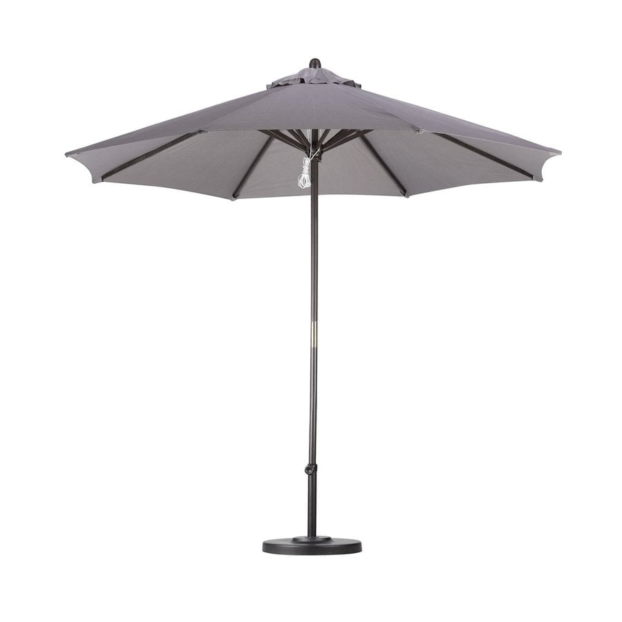 California Umbrella Taupe Market Patio Umbrella (Common: 9-ft W x 9-ft L; Actual: 9-ft W x 9-ft L)