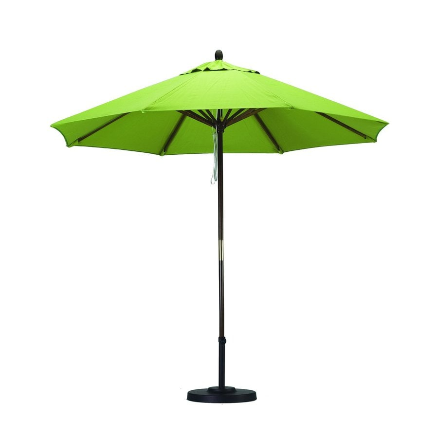California Umbrella Sunline Lime green Market 9-ft Patio Umbrella