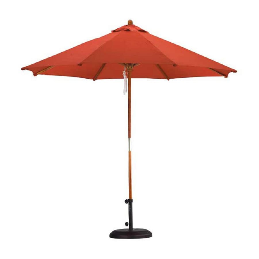 Shop California Umbrella Sunline Brick Market 9 Ft Patio
