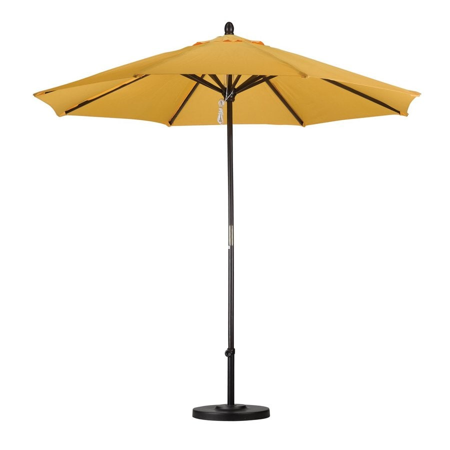 California Umbrella Sunline Yellow Market Patio Umbrella (Common: 9-ft W x 9-ft L; Actual: 9-ft W x 9-ft L)