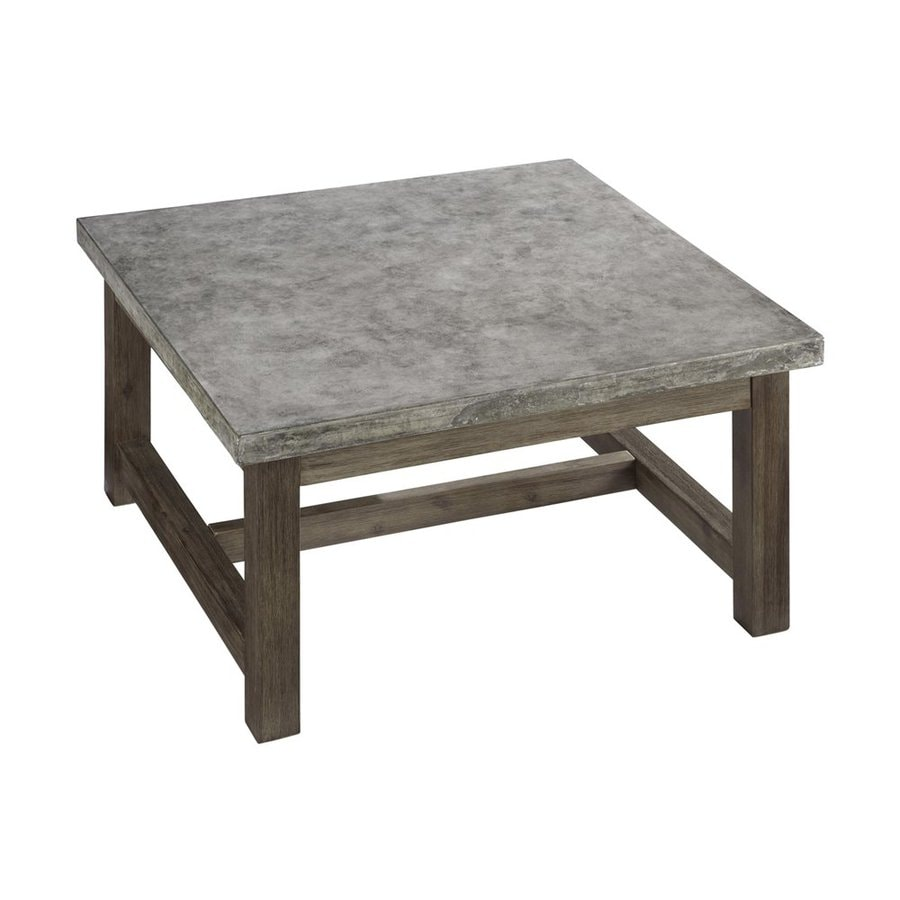 Shop Home Styles Concrete Chic 36 In W X 36 In L Square Acacia Coffee Table At