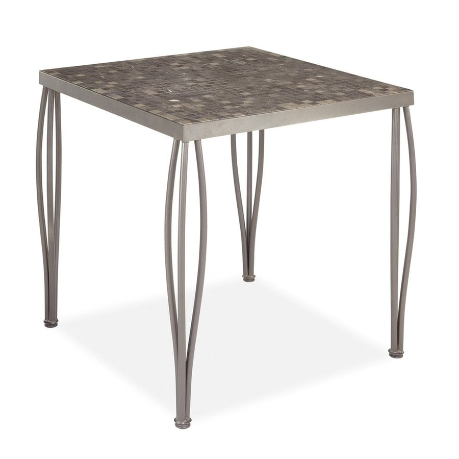 Home Styles Glen Rock 36-in W x 36-in L Square Steel Bar Table