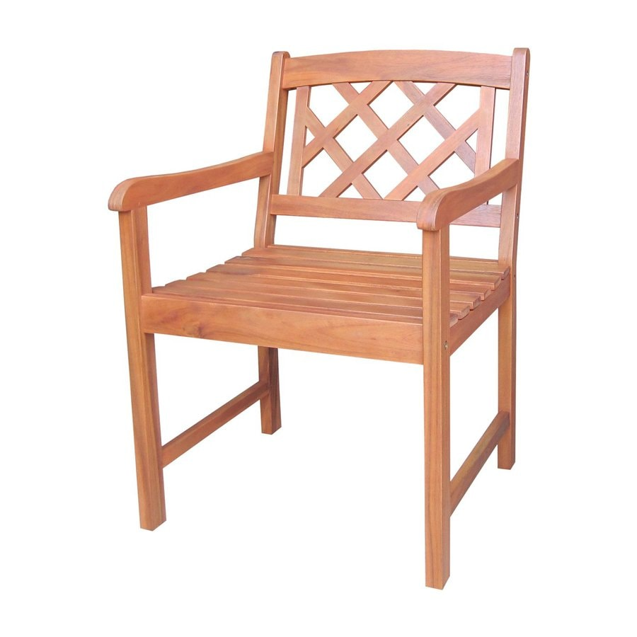 International Concepts Natural Acacia Patio Dining Chair