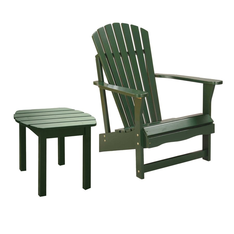 International Concepts Hunter Green Acacia Patio Adirondack Chair