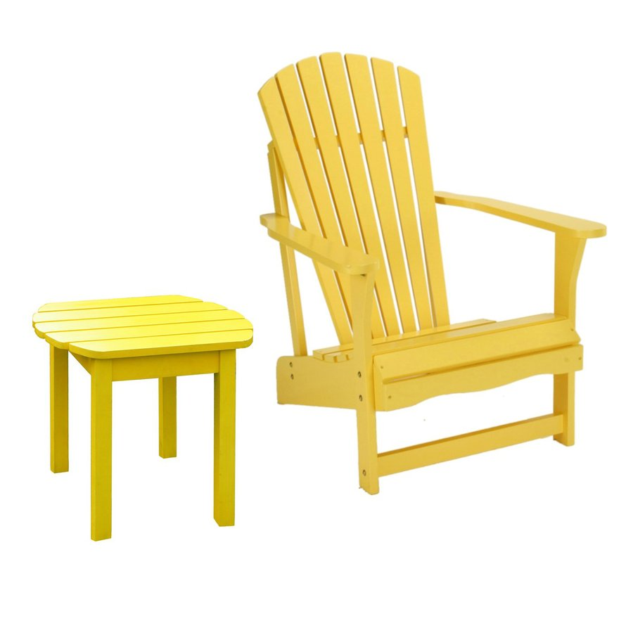 International Concepts Yellow Acacia Patio Adirondack Chair