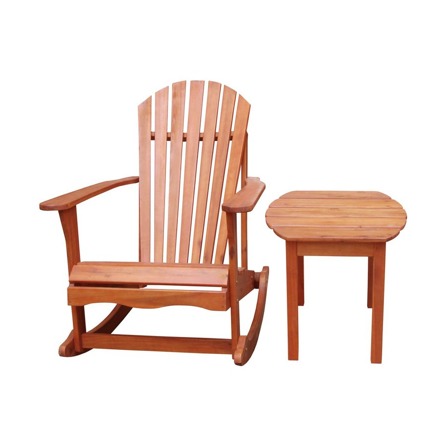 ... International Concepts Natural Acacia Patio Rocking Chair at Lowes.com