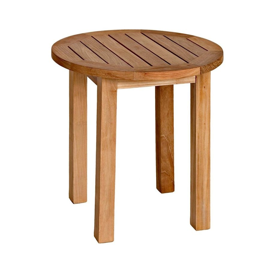 Three Birds Casual Canterbury 20-in W x 20-in L Round Teak End Table
