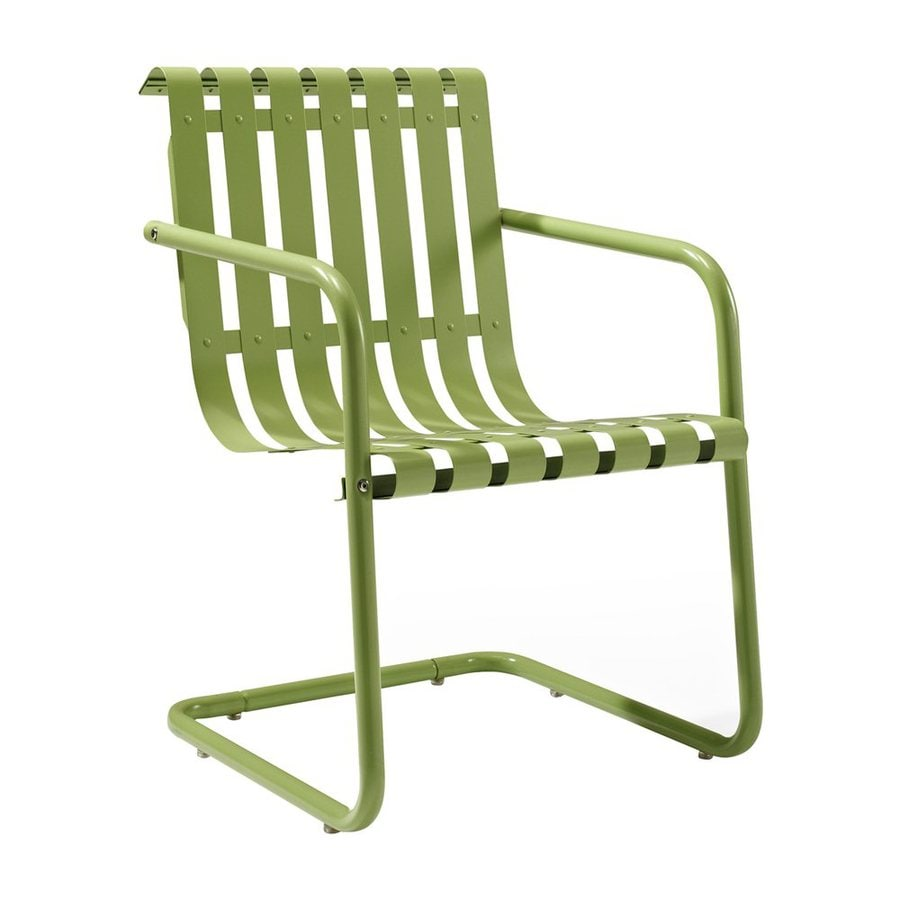 Crosley Furniture Gracie Oasis Green Steel Patio Conversation Chair