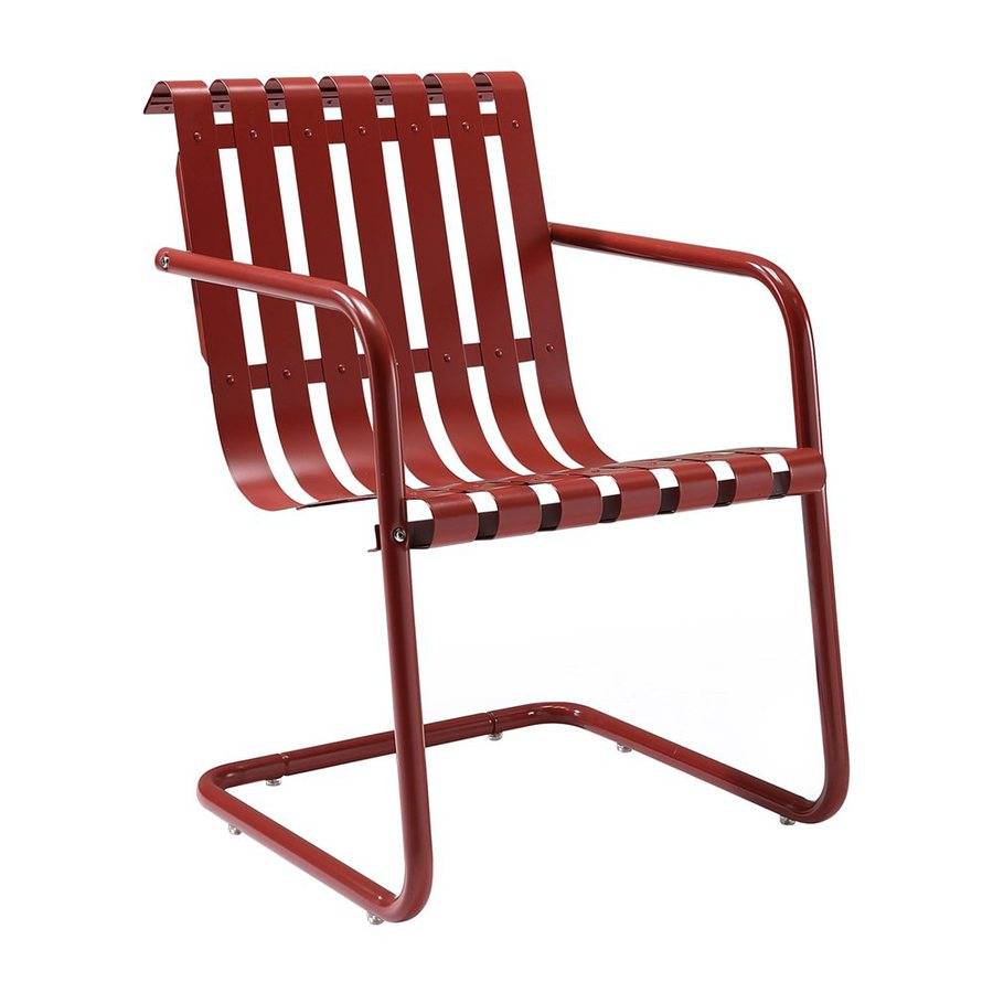 Crosley Furniture Gracie Coral Red Steel Patio Conversation Chair