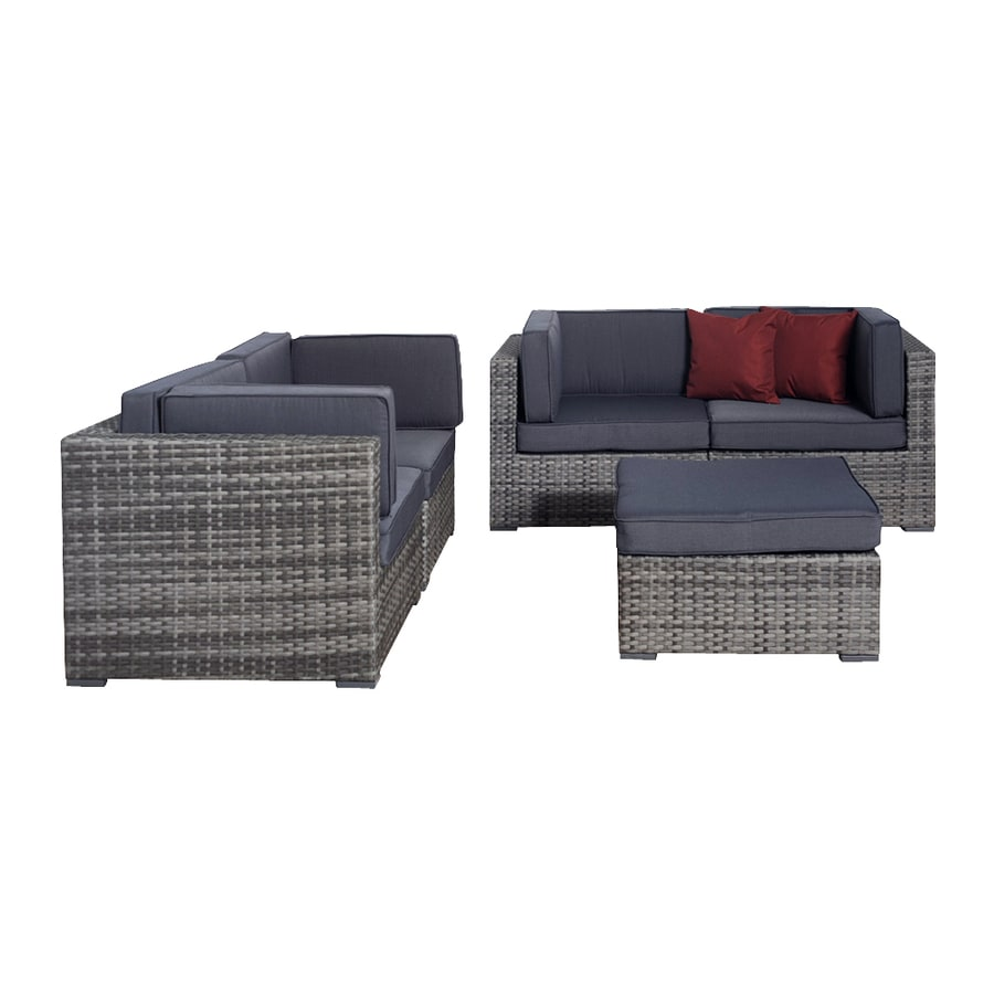 International Home Atlantic 5-Piece Patio Conversation Set