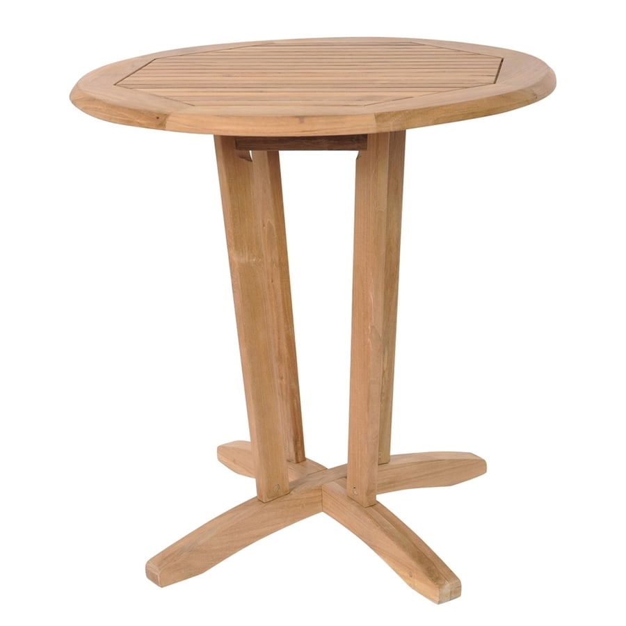 International Home Amazonia 27 In W X 27 In L Round Teak Bistro Table