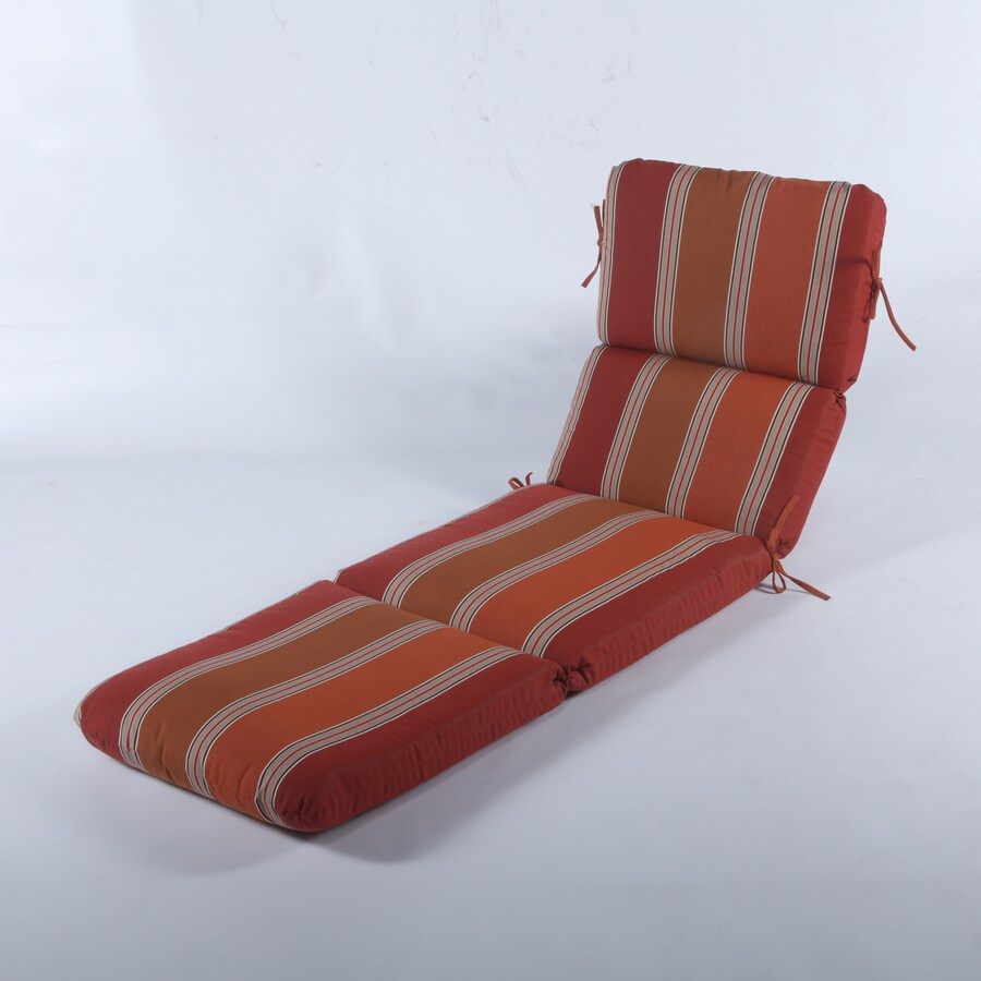 Casual Cushion Saratoga Sunset Stripe Cushion For Chaise Lounge