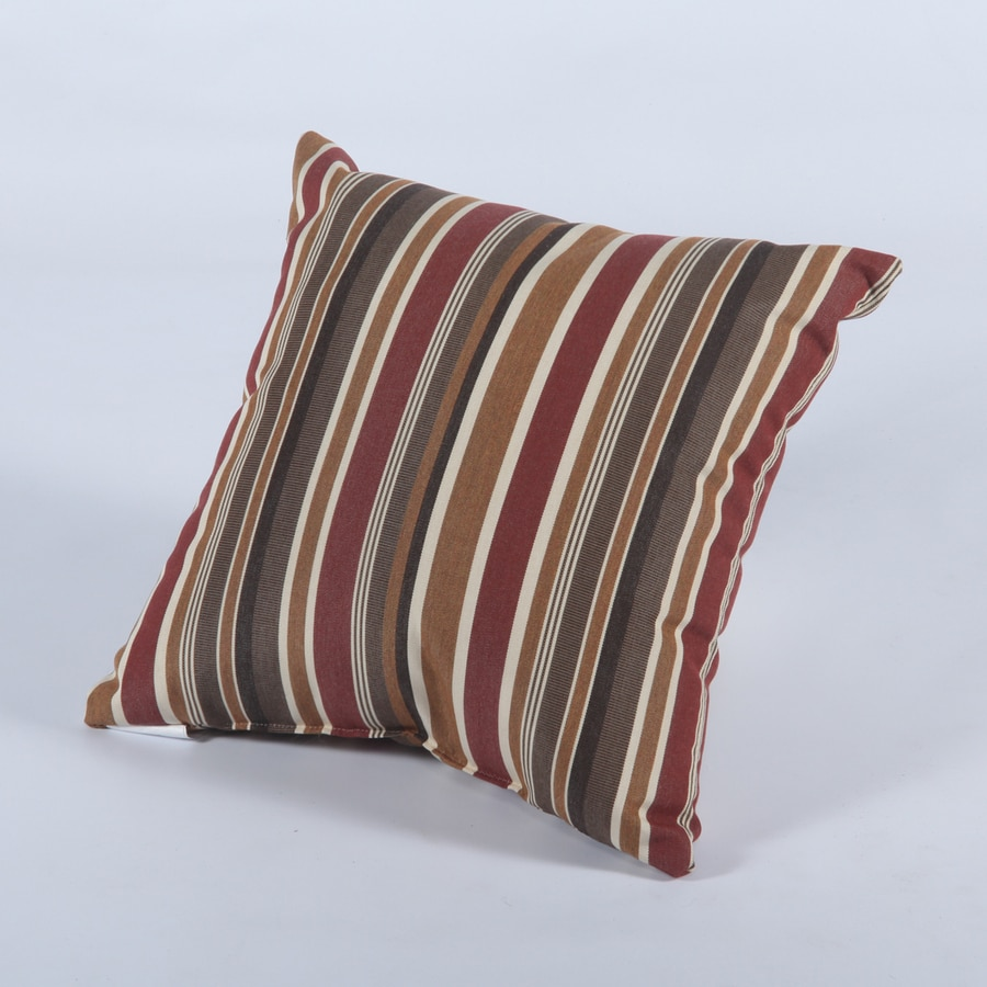Casual Cushion Brannon Redwood Stripe Square Outdoor Decorative Pillow