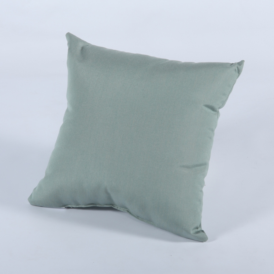 Decorative Pillow Covers Lowes : Shop Casual Cushion Canvas Spa Solid Square Outdoor Decorative Pillow at Lowes.com