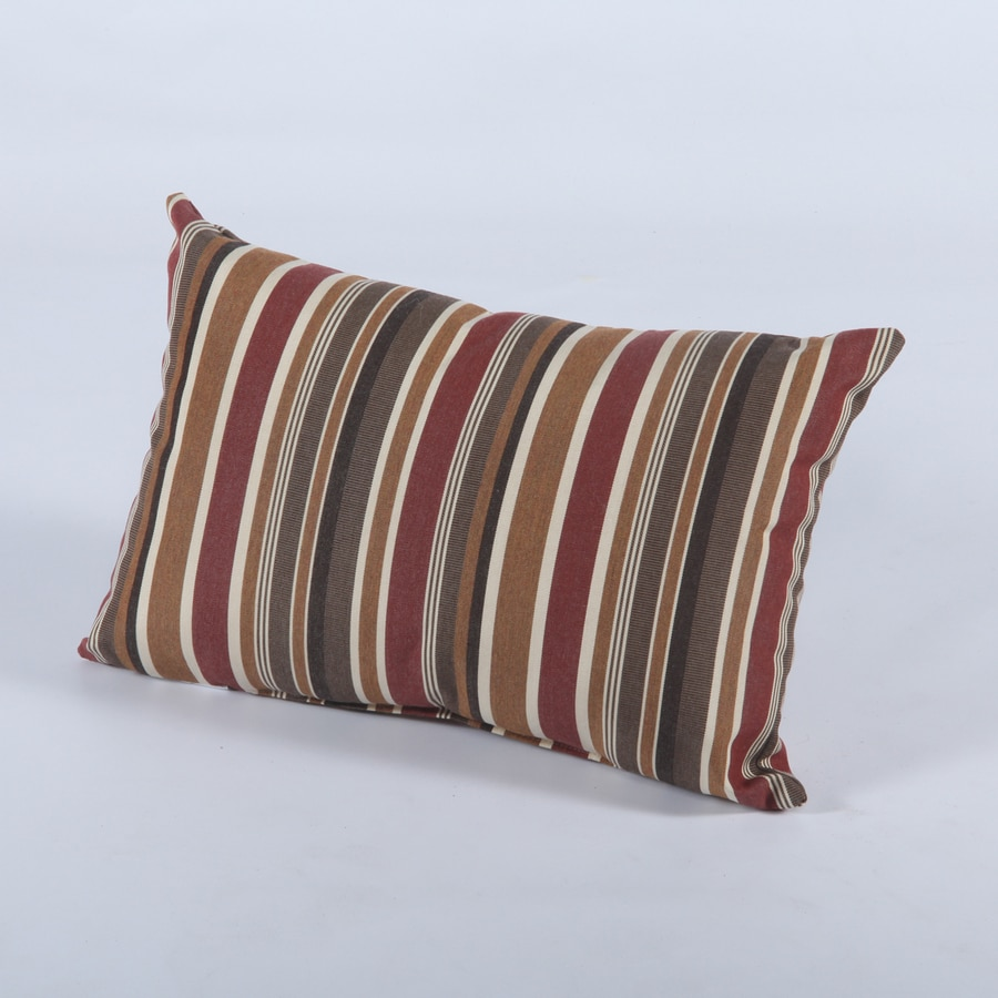 Casual Cushion Brannon Redwood Stripe Rectangular Outdoor Decorative Pillow