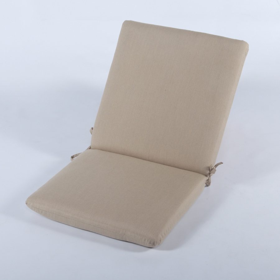 Casual Cushion Spectrum Sand Solid Cushion For High-Back Chair