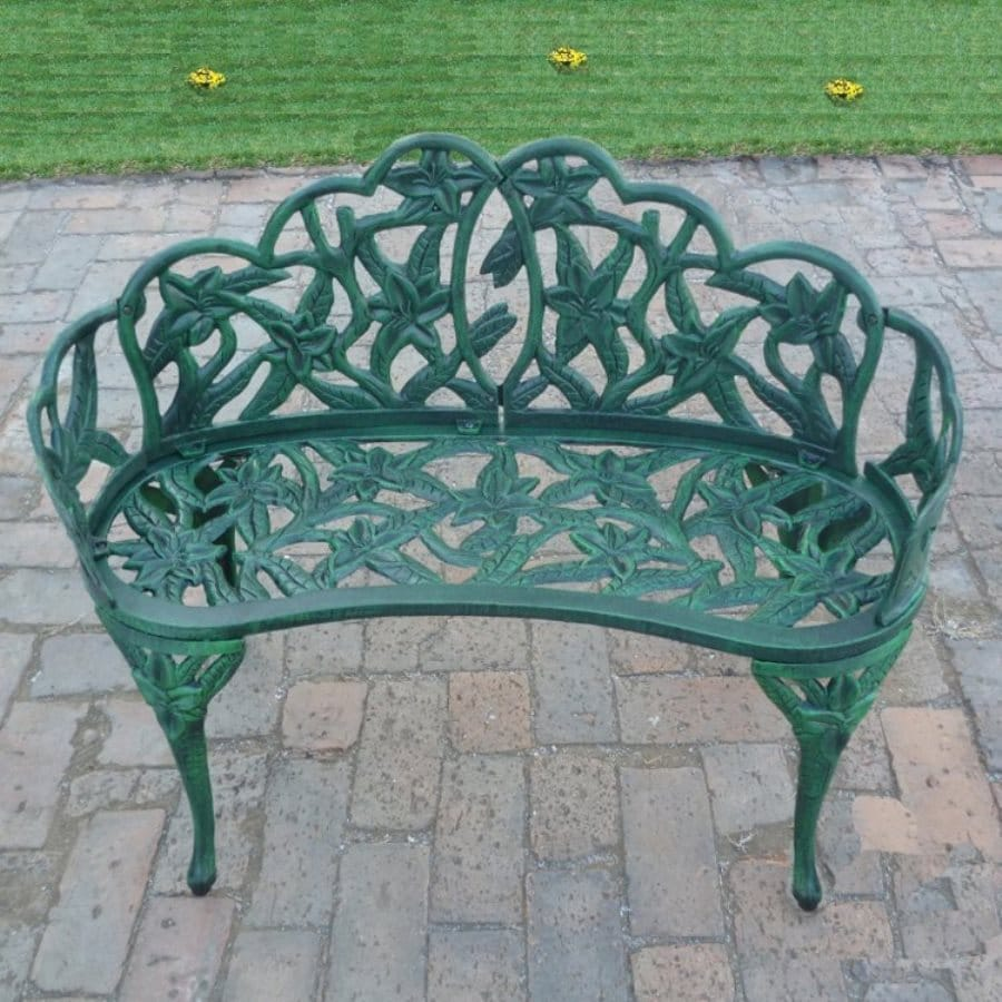 Oakland Living Lily 19-in W x 37.25-in L Aluminum Patio Bench