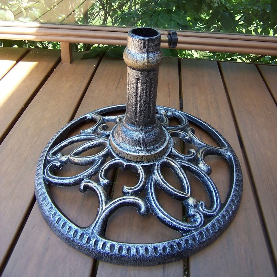 Oakland Living Mississippi Antique Pewter Patio Umbrella Base