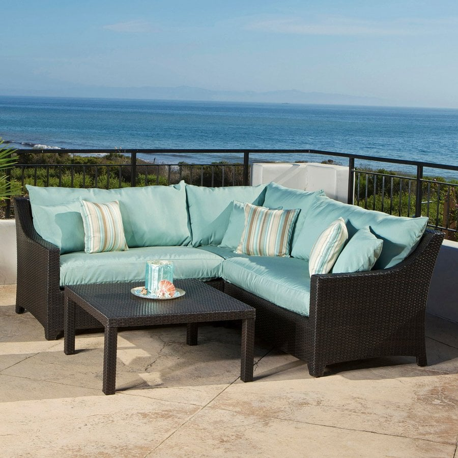 RST Brands Deco 4-Piece Wicker Patio Conversation Set