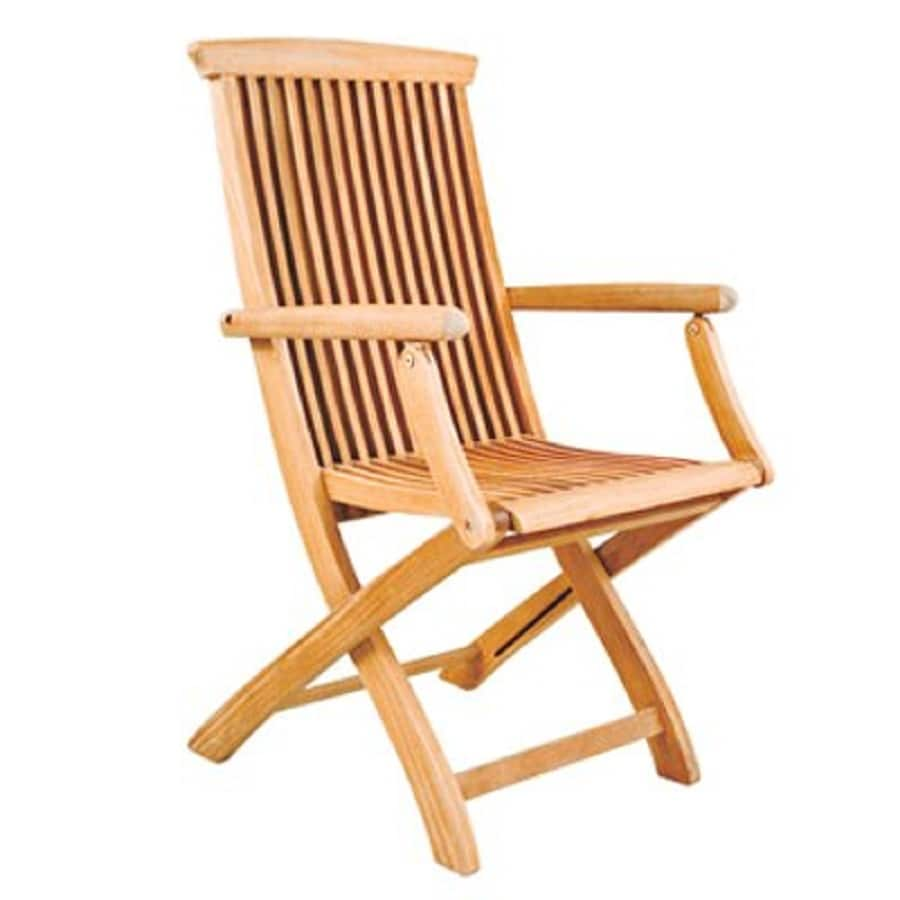 Shop hiteak furniture natural blond teak folding patio
