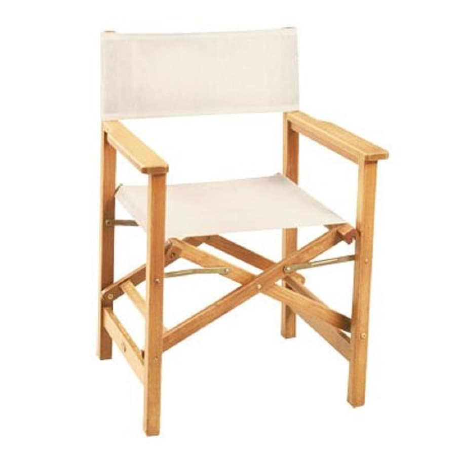 Shop HiTeak Furniture Indoor/Outdoor Teak Directors Folding Chair at ...