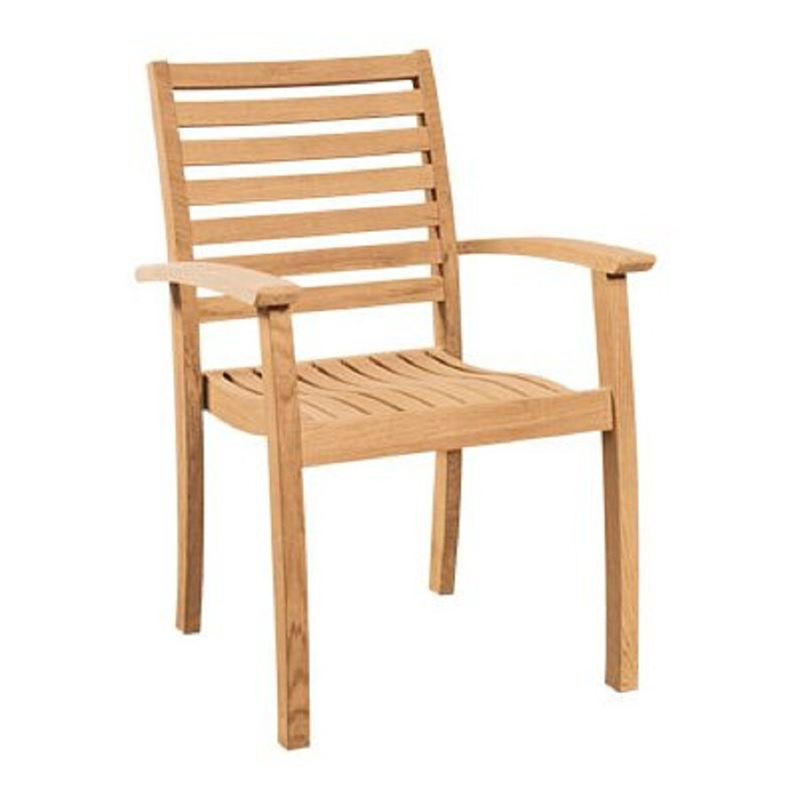Awesome HiTeak Furniture 4 Count Natural Blond Teak Stackable Patio Dining Chairs