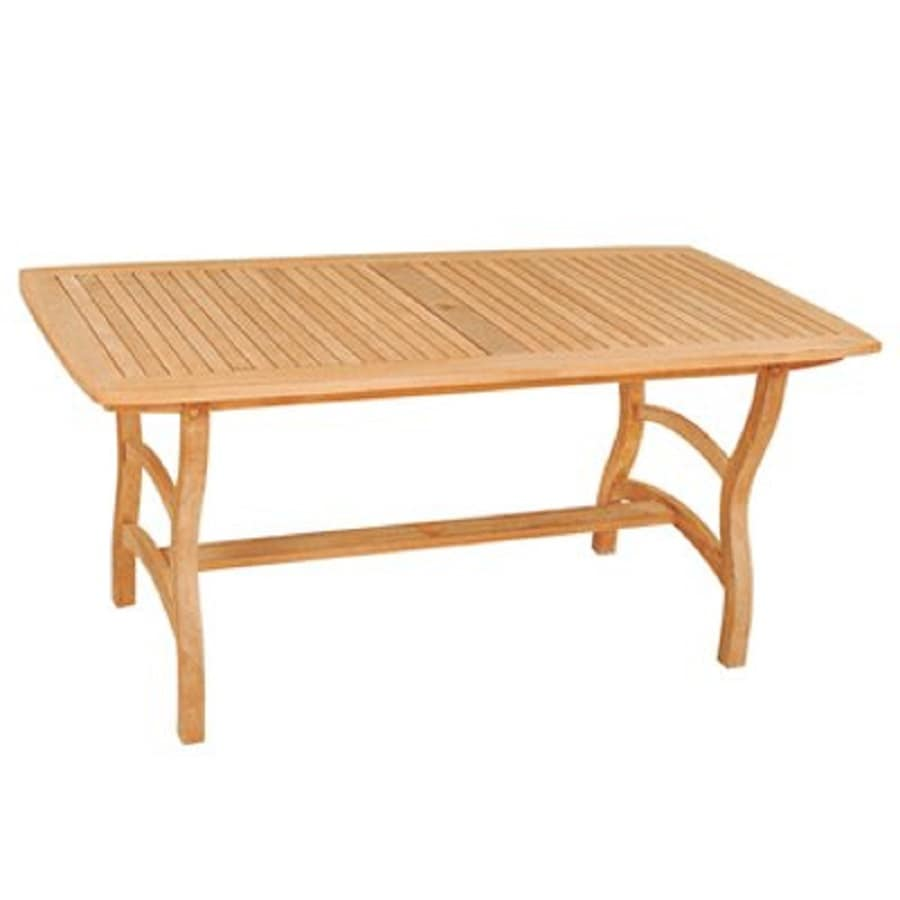 HiTeak Furniture 31.5-in W x 63-in L Rectangle Teak Dining Table