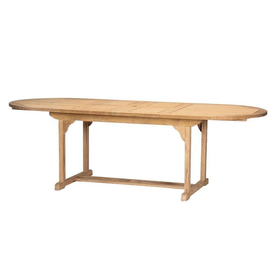 HiTeak Furniture 39.5-in W x 67-in L Oval Teak Dining Table