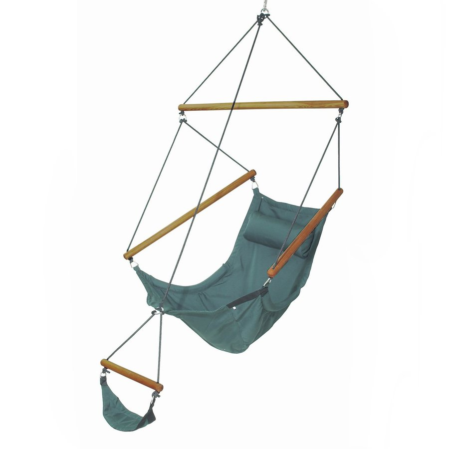 Medium image of byer of maine amazonas swinger forest green fabric hammock chair