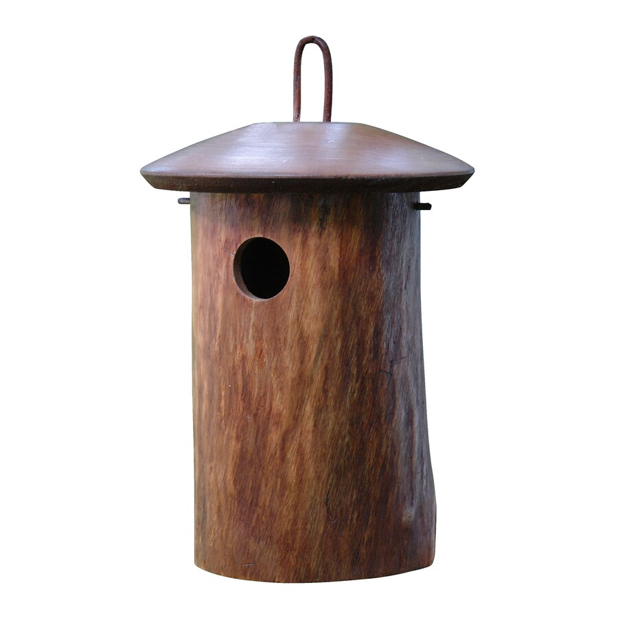 Byer of Maine 9-in W x 12-in H x 9-in D Dark Stain Bird House