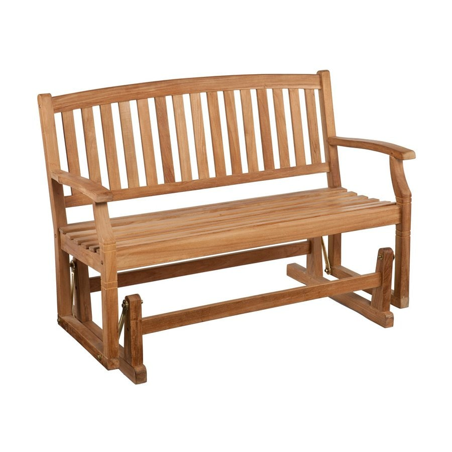 Boston Loft Furnishings 27.5-in W x 49-in L Wood Patio Bench