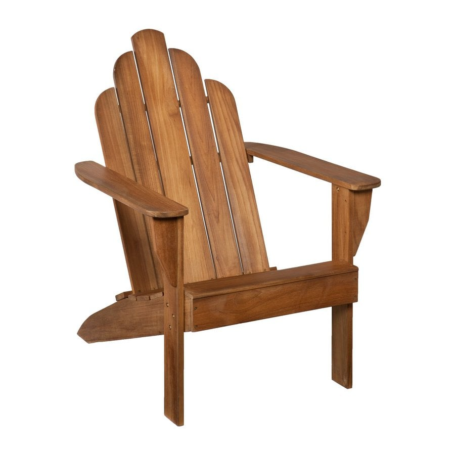Boston Loft Furnishings Unfinished Teak Coastal Adirondack Chair