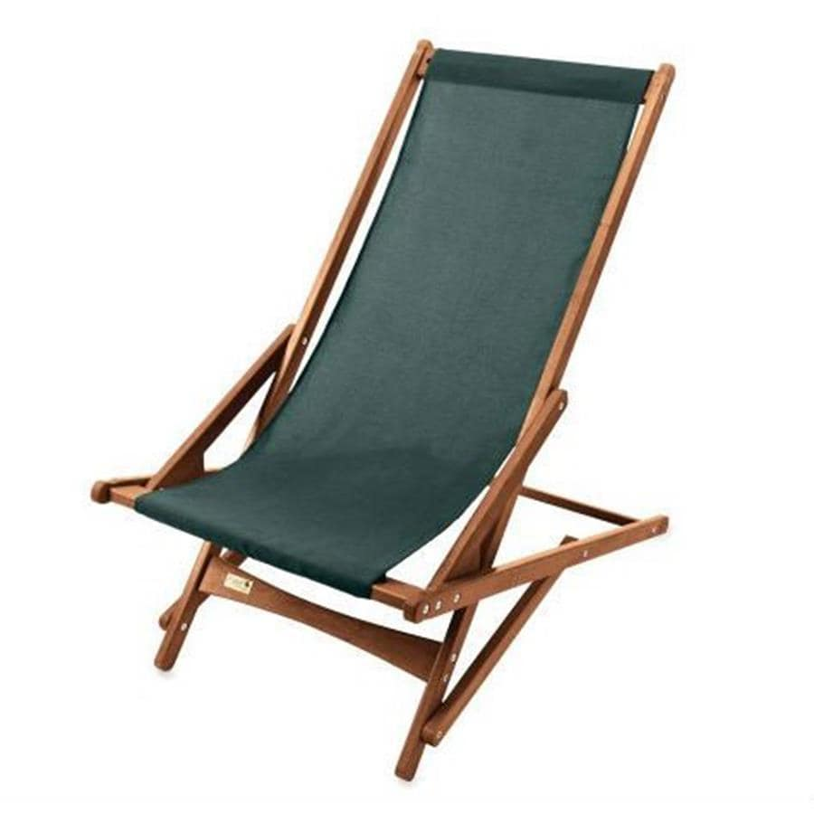 Shop Byer Of Maine Forest Green Keruing Folding Beach Chair At