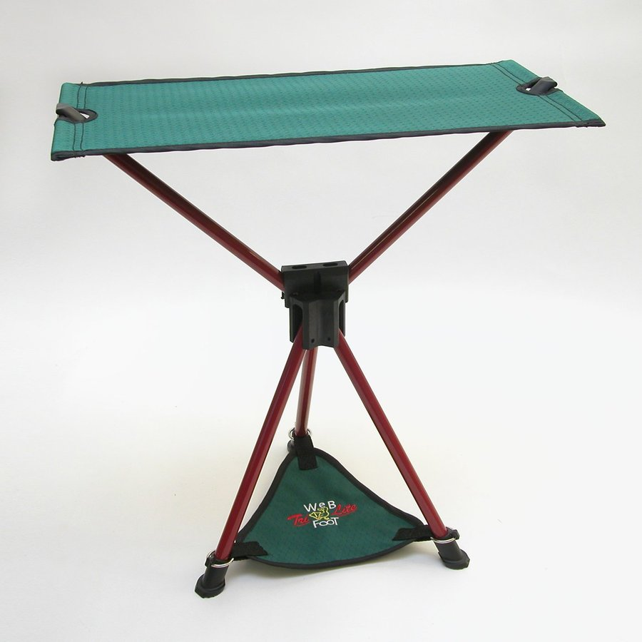 Byer of Maine Spruce Green/Red Steel Folding Camping Chair