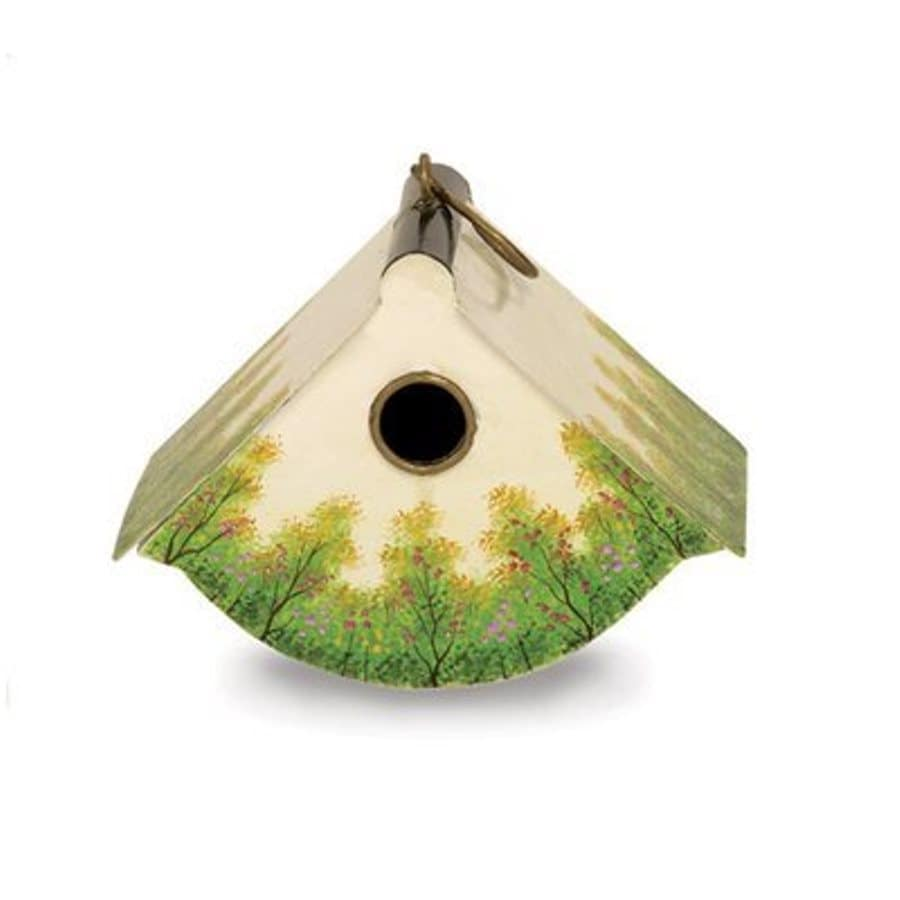 ACHLA Designs 9.5-in W x 7-in H x 6-in D White Bird House