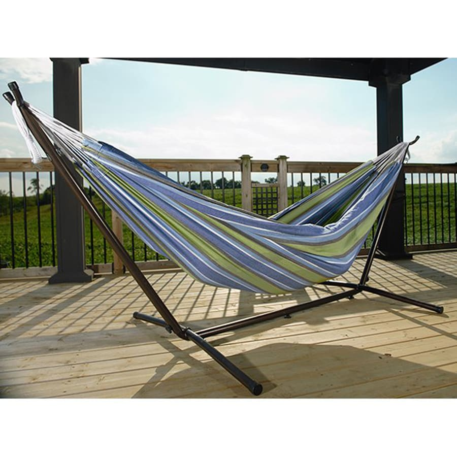 Shop Vivere Oasis Fabric Hammock Stand Included At Lowes Com