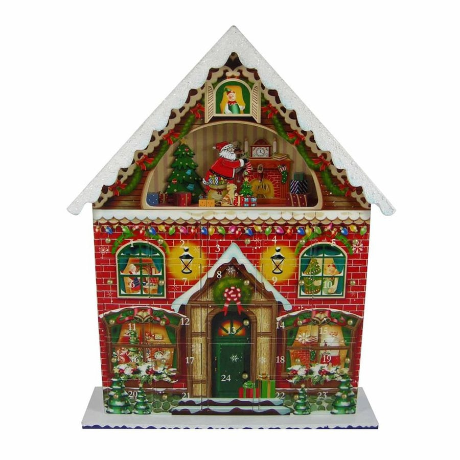 Home Bazaar 1-Piece Tabletop Advent Calendar Indoor Christmas Decoration