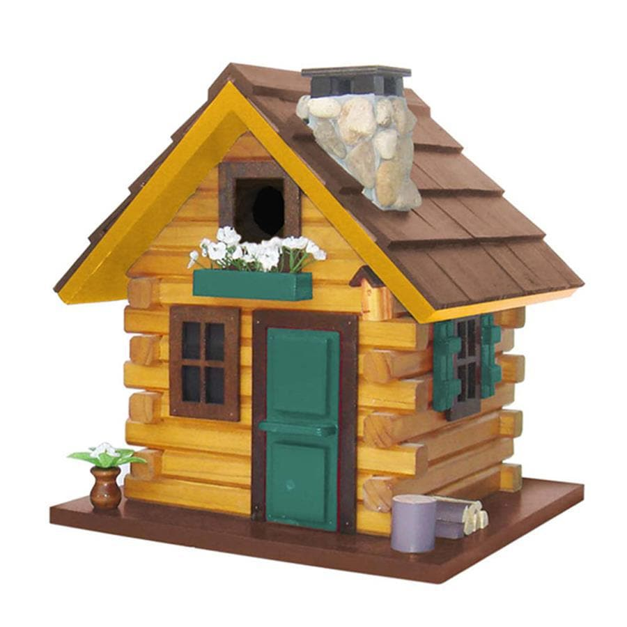 Home Bazaar 10.5-in W x 10.5-in H x 11.5-in D Light Brown Bird House