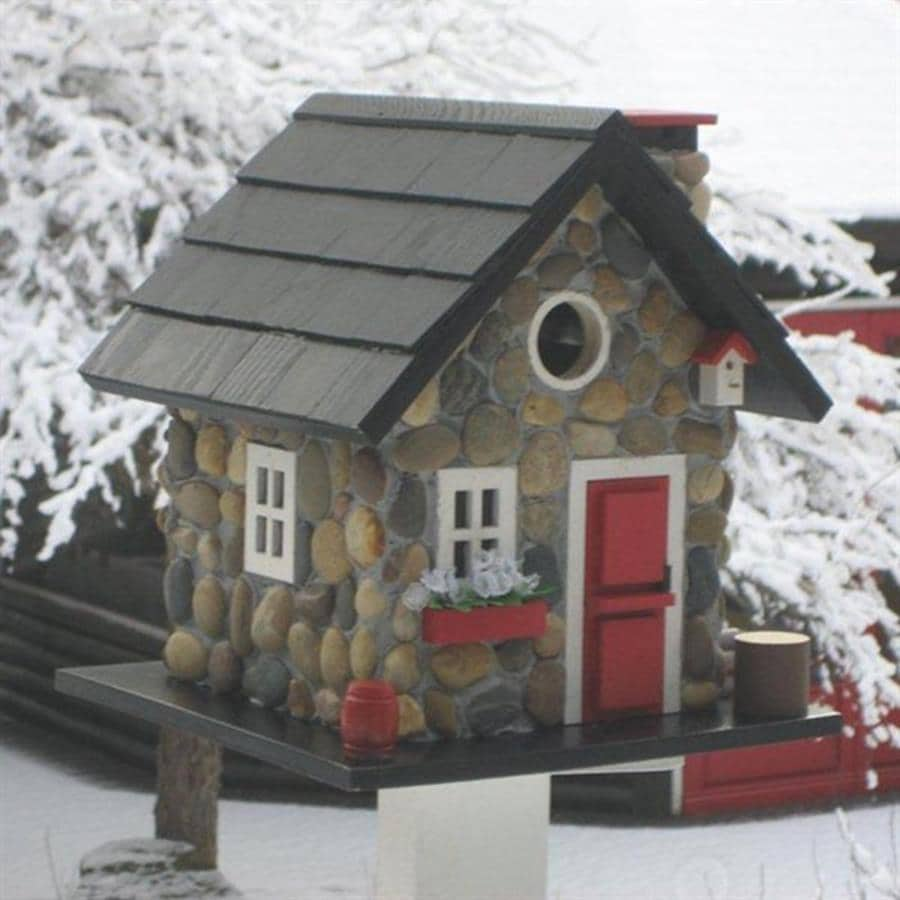 Home Bazaar 9.5-in W x 9.5-in H x 11-in D Stone Bird House
