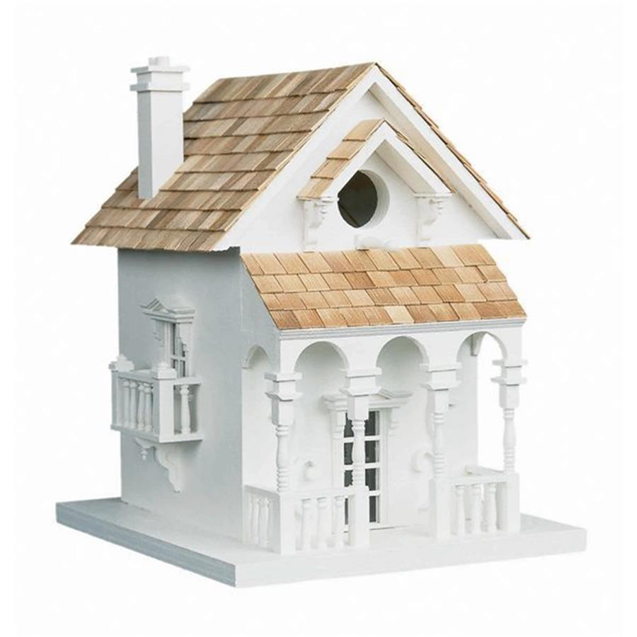 Home Bazaar 8.25-in W x 11-in H x 9.5-in D White Bird House