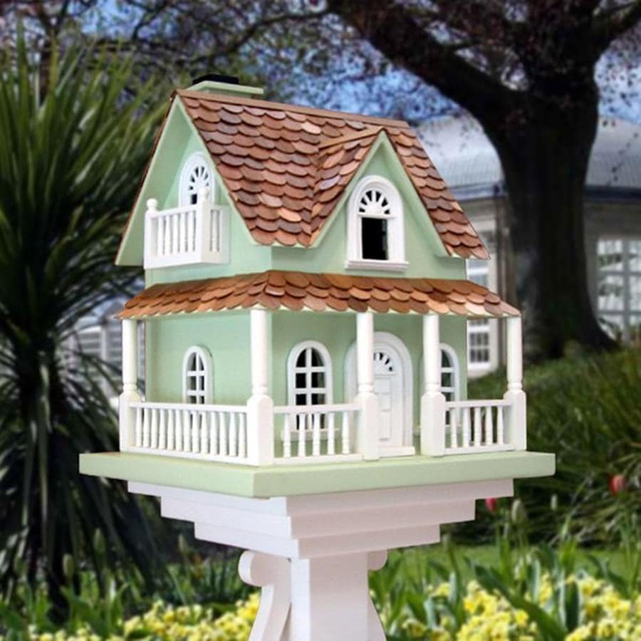 Home Bazaar 7.5-in W x 14.5-in H x 12.5-in D Green Bird House