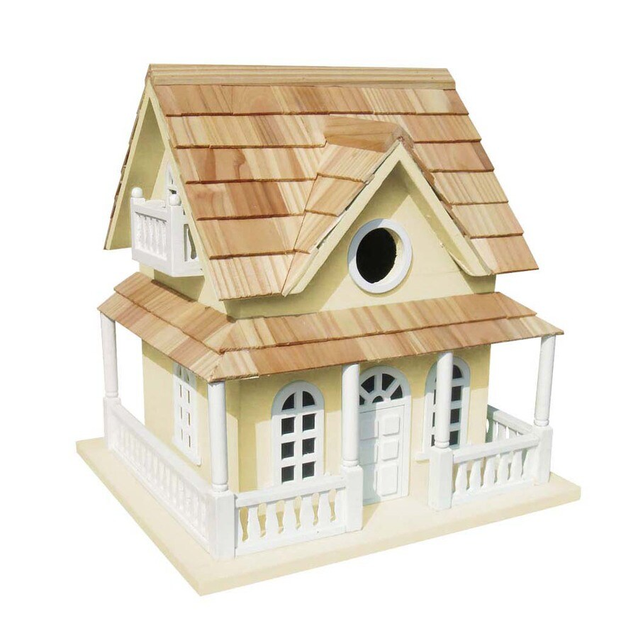 Home Bazaar 10-in W x 9-in H x 10.5-in D Yellow Bird House