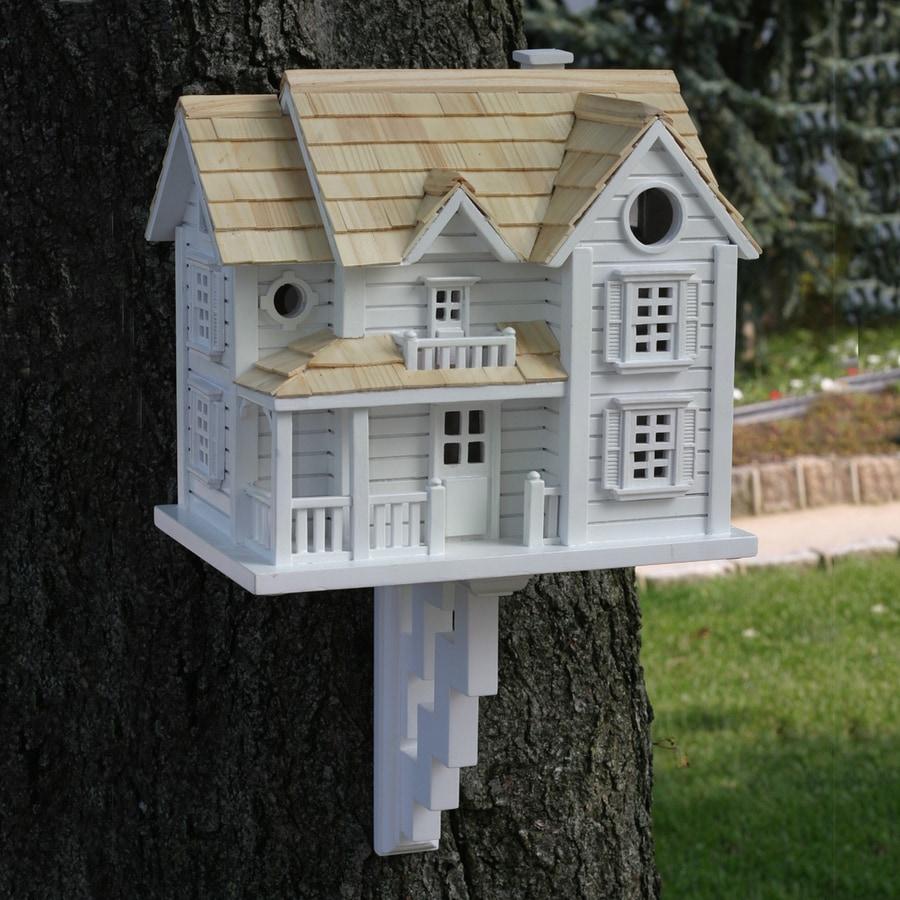 Home Bazaar 7.5-in W x 10.5-in H x 11.5-in D White Bird House