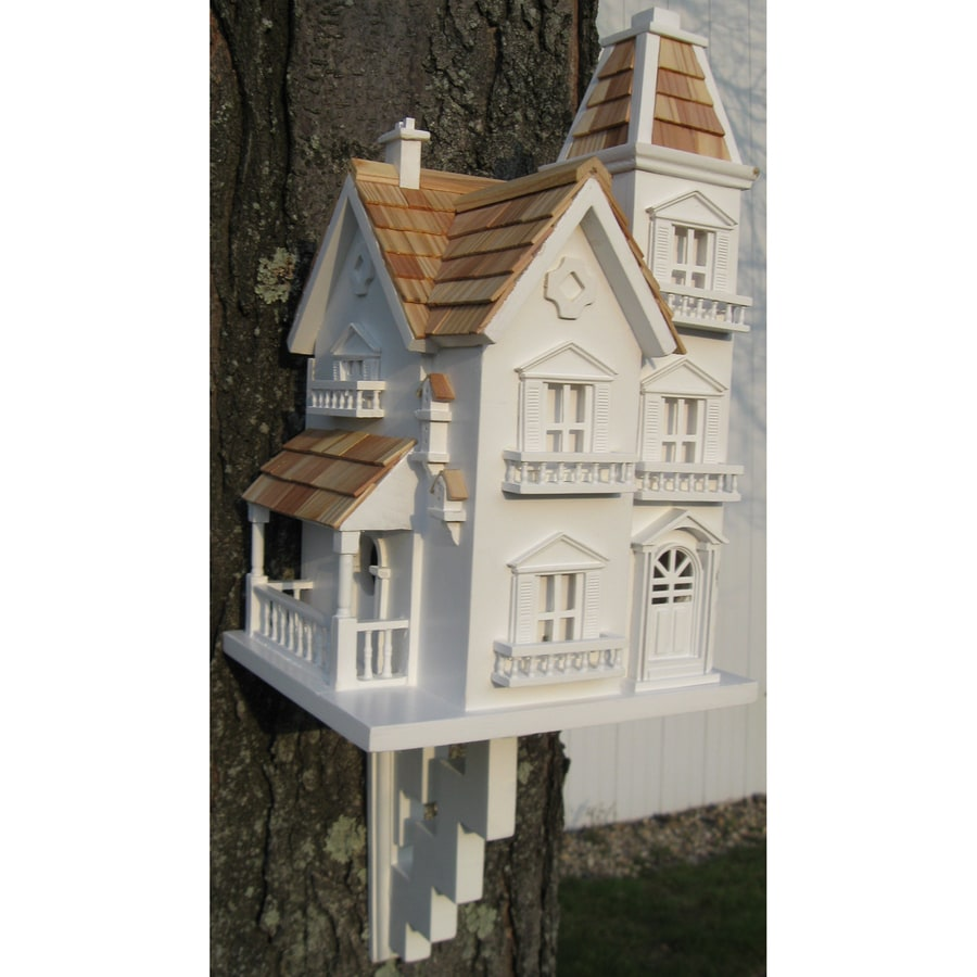Home Bazaar 5.25-in W x 15-in H x 9.25-in D White Bird House