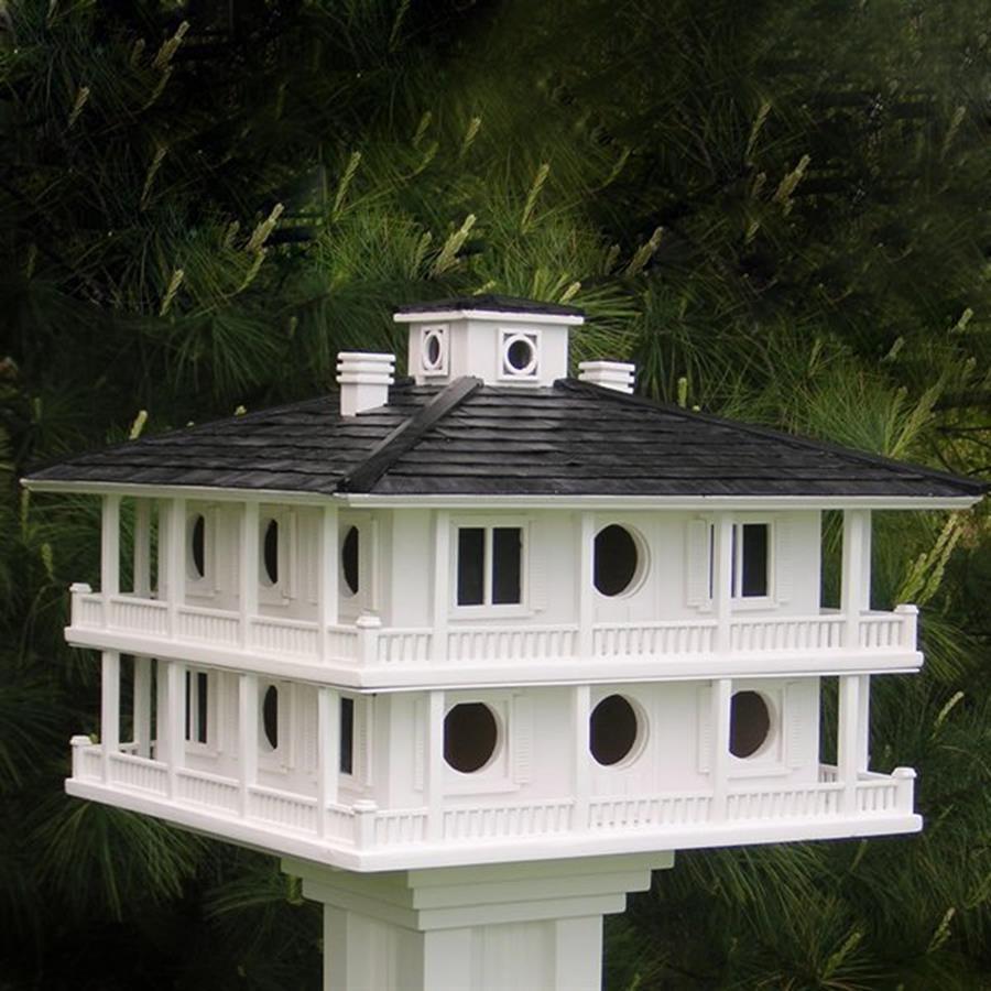 Home Bazaar 21-in W x 15.5-in H x 21-in D White Bird House