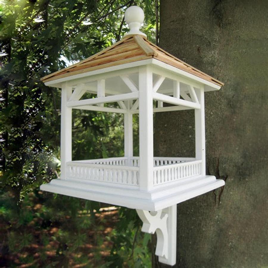 Shop Home Bazaar Classic Wood Platform Bird Feeder At