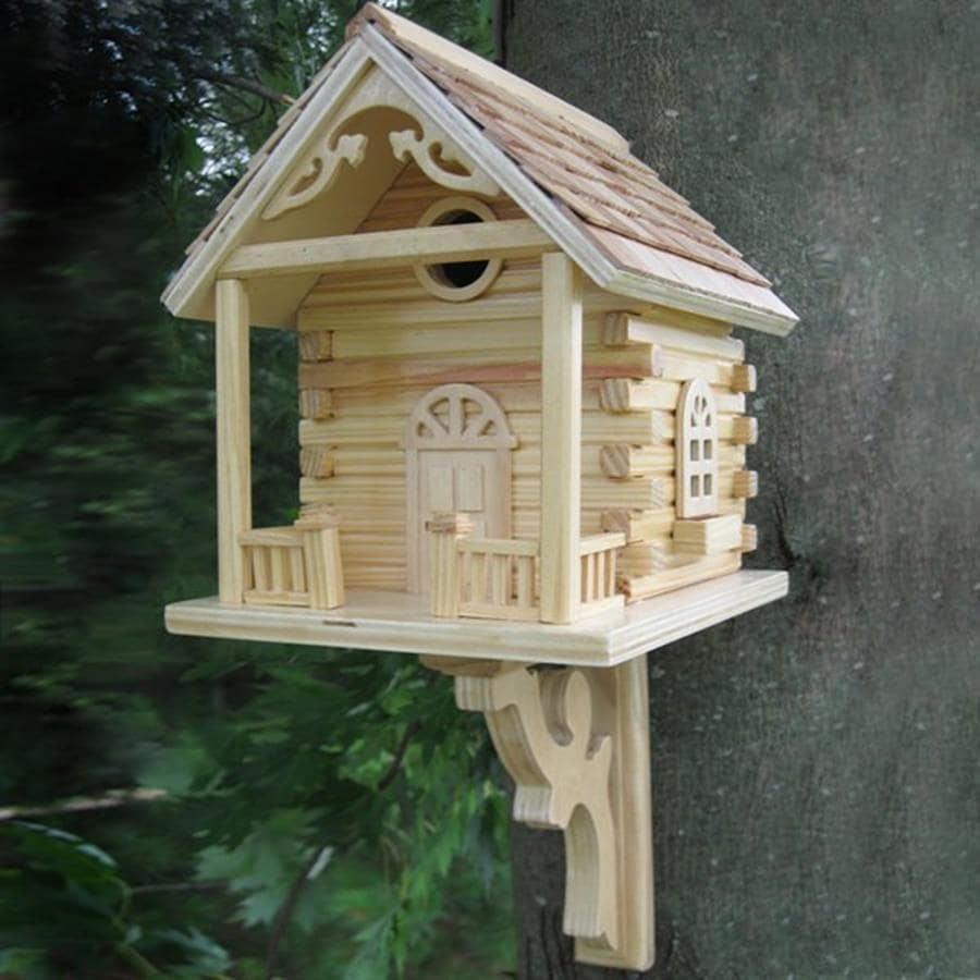 Home Bazaar 9-in W x 11-in H x 12-in D Natural Bird House