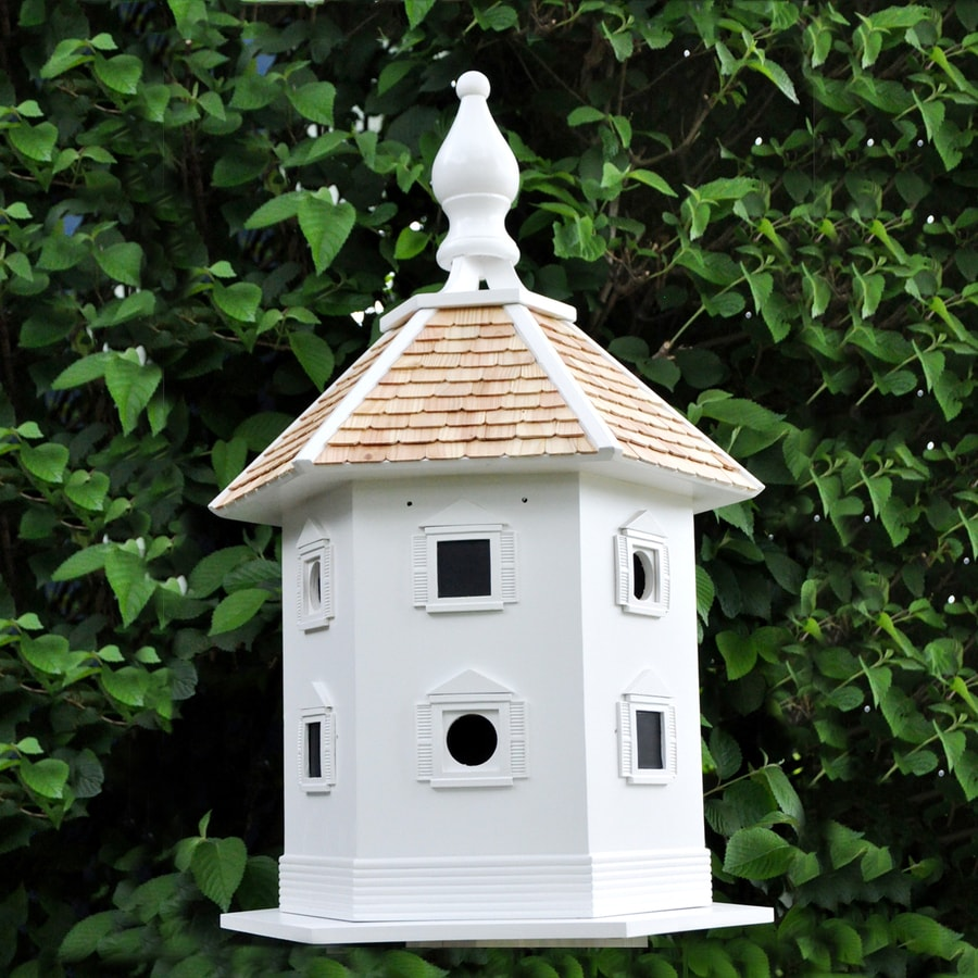 Home Bazaar 19-in W x 17-in H x 30-in D White Bird House