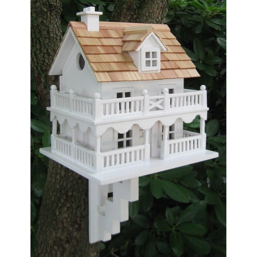 Home Bazaar 9-in W x 11-in H x 10-in D White Bird House